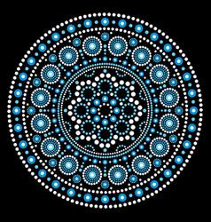 Mandala aboriginal dot painting mandala vector