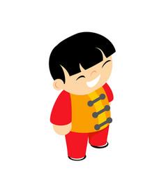 Martial arts silk wear costume traditional kid vector