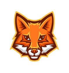 mascot stylized fox head vector image
