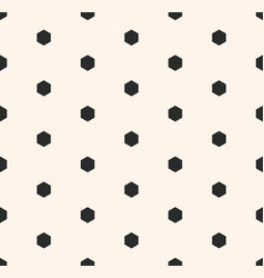 minimalist seamless pattern with small hexagons vector image
