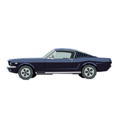 nursery retro car drawing muscle car vector image