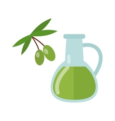Olive oil and branch vector