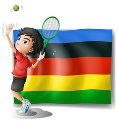 Olympics flag with tennis player vector image