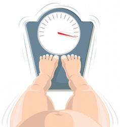 overweight concept vector image