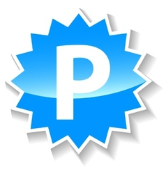Parking blue icon vector