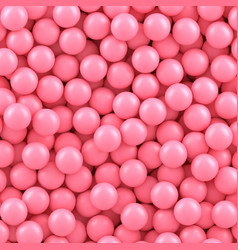 Pink candy balls background vector
