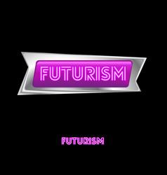 Pink neon futurism logo vector