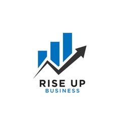 Rising up statistic bar business consulting logo vector