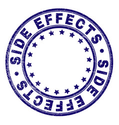 Scratched textured side effects round stamp seal vector