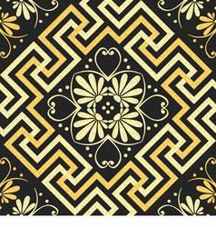 Seamless golden Greek ornament vector