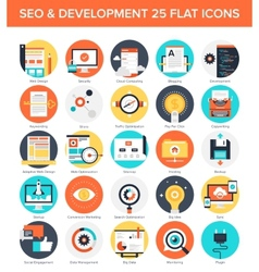 SEO and Development vector image