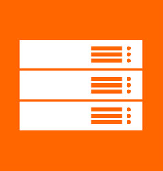 Server white icon vector