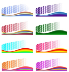 Set of 8 abstract backgrounds vector image vector image