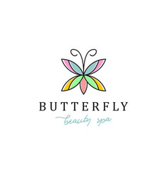 Simple modern design butterfly logo for fashion vector