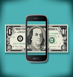 Smartphone Money vector image