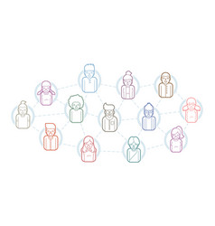 Social network communication community online vector