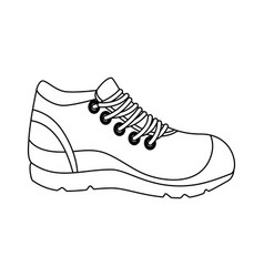 sport shoe tennis icon vector image