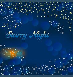 starry night vector image