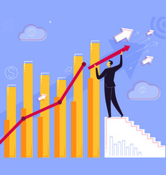 step for business success vector image