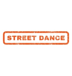 Street Dance Rubber Stamp vector image