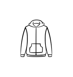 sweater hand drawn sketch icon vector image
