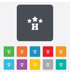 Three star Hotel sign icon Rest place vector