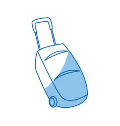 Travel suitcase accessory handle wheel icon vector
