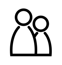 Two people icon symbol of group or pair of vector