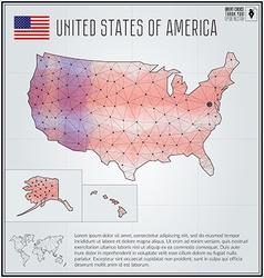 United States of America map in geometric vector