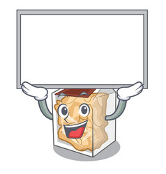 Up board pork rinds isolated in cartoon vector