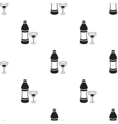 Vermouth icon in black style isolated on white vector