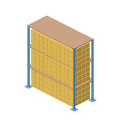 warehouse stand isometric icon vector image