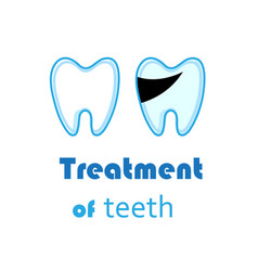 white teeth signs on white background vector image