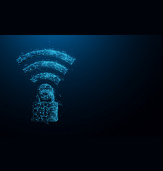 Wifi icon and padlock security internet vector