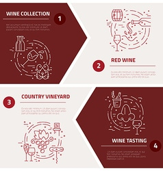 Wine Industry Concepts vector image