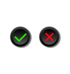 Yes and no buttons on white background vector