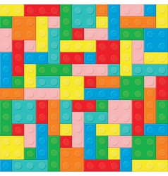 Construction blocks removable pieces vector image
