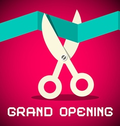 Grand Opening on Retro Pink Background vector image vector image