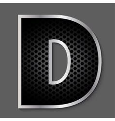 Metal grid font - letter vector image