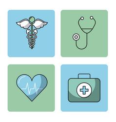 round icon health vector image