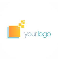 Square data digital logo vector