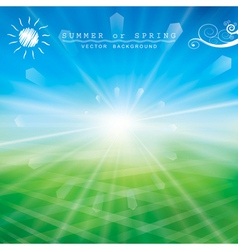 Sunlight vector image vector image