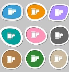 35 mm negative films symbols multicolored paper vector