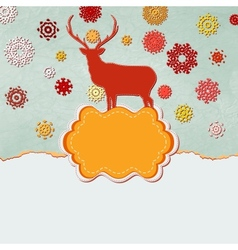 Christmas deer design template EPS 8 vector image vector image