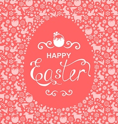 easter card egg vector image vector image