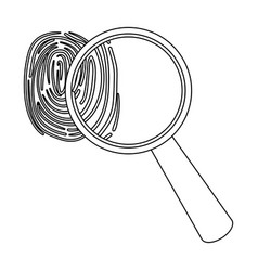 magnifier and fingerprint detection of criminals vector image