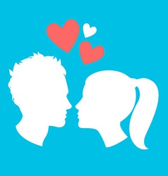Profiles of man and woman vector image vector image