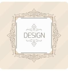 Template vintage frame vector image vector image