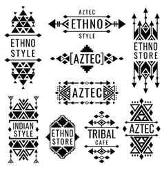Tribal old mexican ornaments indian vector image vector image