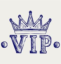 Vip crown symbol vector image vector image